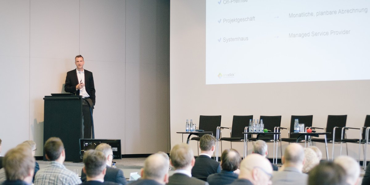 Impulsvortrag von oneclick CEO Dominik Birgelen bei Trusted Cloud Forum