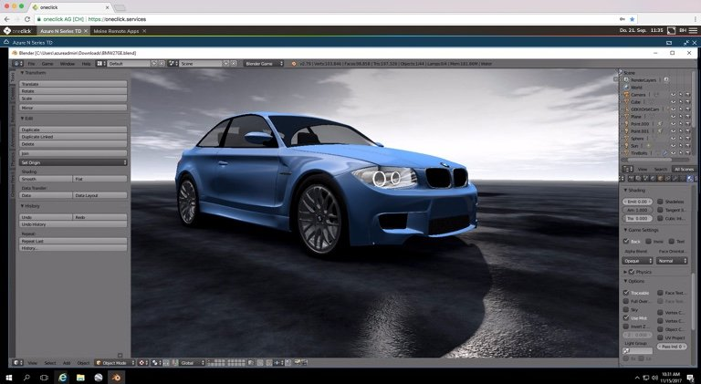 3D application in the browser