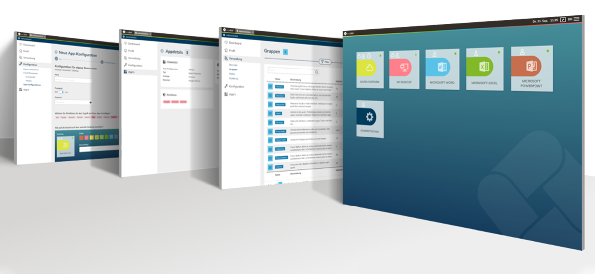 Administration oneclick™ Plattform