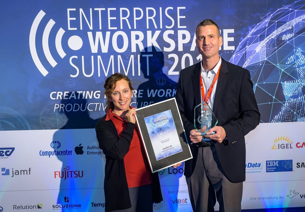oneclick wins platinum at Enterprise Workspace Awards 2019