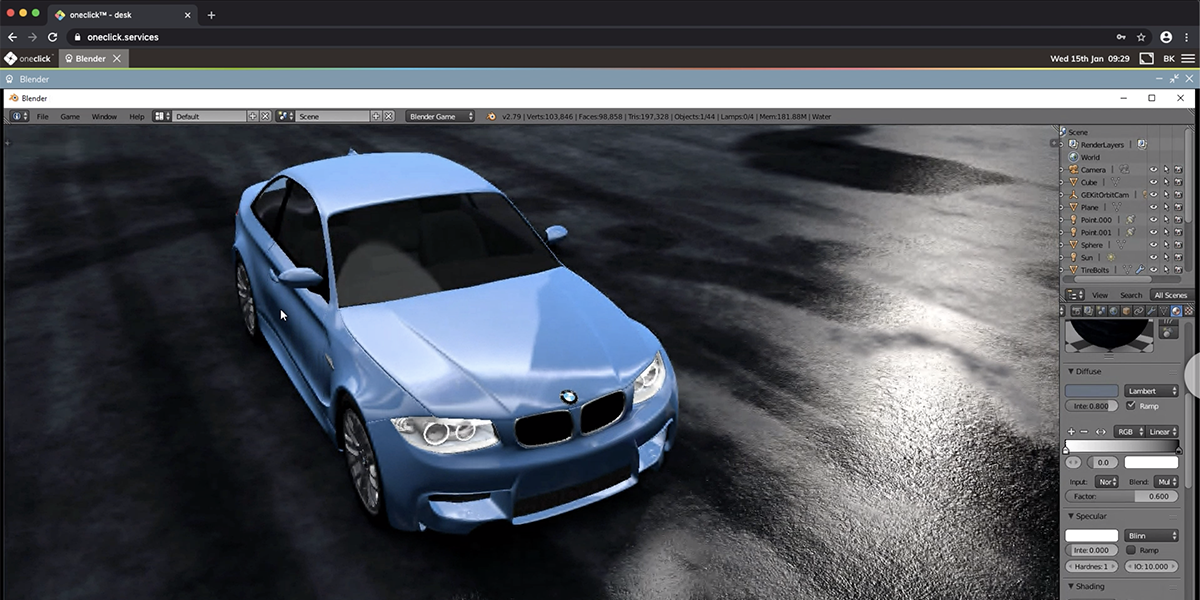 Web-based remote access to CAD / 3D applications