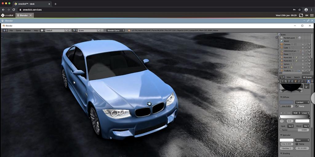 Webbasierter Fernzugriff auf CAD- / 3D-Applikationen